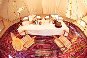 Emperor tent beauty space interior