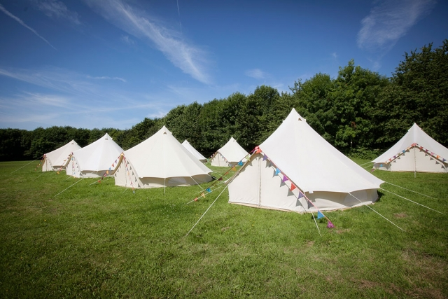Loveabell Tents on a sunny day