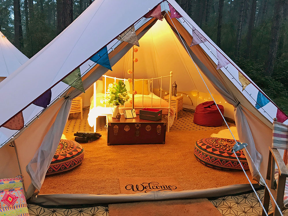 Loveabell Bell Tent Hire Glamping Camping Wedding Festival Corporate Event Film