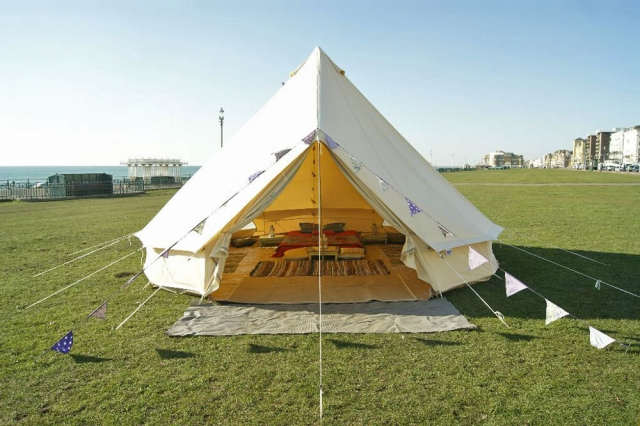 Tent on Hove Beach